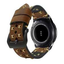 Gear S3 Classic Frontier Genuine Leather Watch Replacement Band Strap Dark Brown