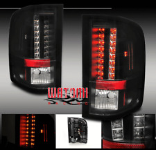 07-11 CHEVY SILVERADO 1500 2500 3500 HD LED TAIL BRAKE LIGHT LAMP BLACK 08 09 10