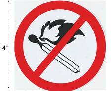 No Flame Allowed Vinyl Sticker Decal Warning Safety Sign Store Office Building