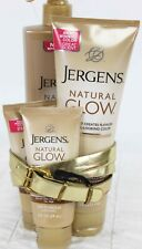 Jergens Natural Glow Lotion Lot Fair to Med Skin Tones Face Hand Body