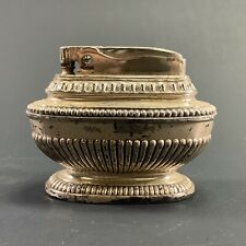 """VINTAGE RONSON """"QUEEN ANNE"""" SILVER PLATED TABLE CIGARETTE CIGAR LIGHTER"""