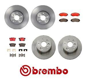 For Acura TL Base 3.2L V6 00-08 BREMBO Front & Rear Brake KIT Discs Rotors Pads
