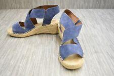 **Rockport Kairi X Strap Wedge Espadrille CH4814 Sandal, Women's Size 9.5W, Blue