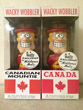 FUNKO ROYAL CANADIAN MOUNTIE SET X2 BOBBLE HEAD WACKY WOBBLER MIDDLEMAN EXC NEW