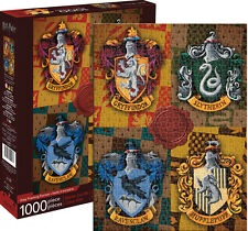 """HARRY POTTER CRESTS 1000 Piece Jigsaw Puzzle 20"""" X 28"""" Hogwarts Brand New Sealed"""