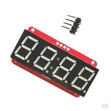 "3Pc LED Display Module HT16K33 I2C 0.56"" 4 Digit Tube 7-Segment for Arduino"