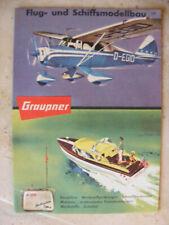 Alter Graupner Prospekt Flug- und Schiffsmodelle Modellbau von 1960
