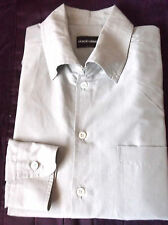Luxurious GIORGIO ARMANI black label dress shirt Solid Light gray 15 1/2 -39