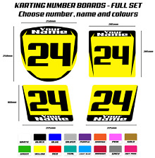 Karting Number Board Sticker Set Custom Racing Numbers - Vinyl Decals Racing