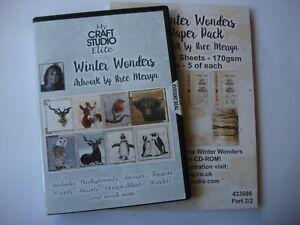 My Craft Studio Winter Wonders artwork by Bree Merryn  cd rom and paper pad