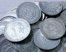 4 monedas DISTINTAS de 100 Pesetas PLATA. Año 1966. *66*67*68 y *70. Peso 76 gr.