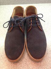 Johnston & Murphy Mens Navy Blue Suede Sheepskin Oxfords Shoes Sz 8M Elvis
