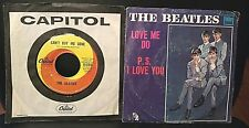 Lot 2 THE BEATLES Love Me Do/P.S. I Love You & Can't Buy Me Love/You Can't Do Th