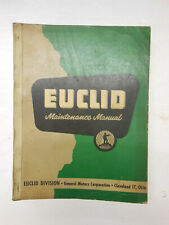 EUCLID Mdl. TDT - 1 thru 24 - used w/ 15.5 yd Scraper & Bottom Dumps MANUAL 1955