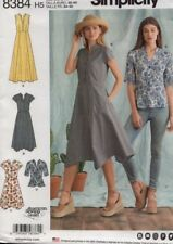 Simplicity Sewing Pattern 8384 Misses Dress & Top Size 16-24