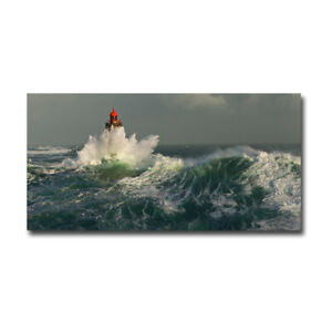 La Jument Lighthouse by Guichard Gallery-Wrapped Canvas Giclee (12 in x 24 in)