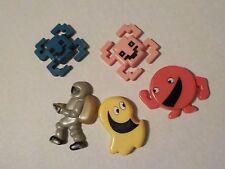 Vintage Lot of Pacman Pac Man Video Game 1980s Fridge Magnets