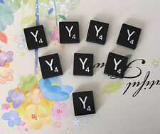 10 (TEN) Letter Y, Black  Scrabble Tiles Letters, Individual, A to Z in Stock!