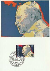 1983 Liechtenstein FDC/ETB card John Paul II