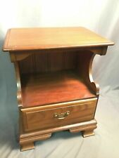 American Drew Solid Wood Nightstand Vintage End Table Made In USA