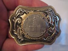 U.S. HALF DOLLAR COIN BELT BUCKLE - TUB CR