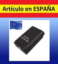 Batería negra MANDO XBOX 360 3600mAh cargador Recargable battery PACK repuesto