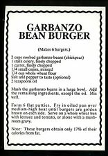 Recipe US postcard Garbanzo Bean Burger