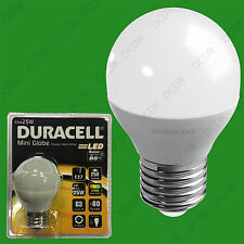 8x 4W (=25W) Duracell LED Frosted Mini Globe ES E27 Round G45 Light Bulb Lamp