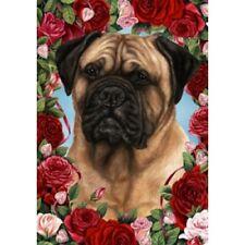 Roses Garden Flag - Bullmastiff 190501