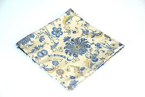 Lord R Colton Masterworks Pocket Square - Belvoir Garden Taupe Silk - $75 New