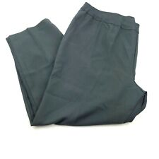 New Bend Over Pull On Dress Pants Womens Plus 28WP Gray Stretch Elastic Waist