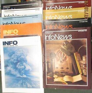 """Union Pacific Employee Magazine """"Info""""  Lot 0f 20 Different Issues  1980-1984"""