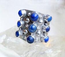 Handarbeit Silberring 53 Lapis Lazuli Blau Gold Pyrit Ring Silber Verspielt Band