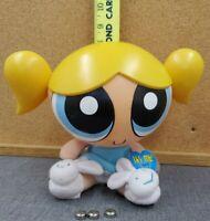 "The Powerpuffs Girls Cartoon Network Talking Bubbles PVC Head & Plush Doll - 10"""