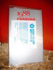 1988 Dodge Caravan C/V Original Factory Operators Owners Manual Package
