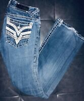 Women's Vigoss Dallas Boot Cut Embellished Jeans 27/33