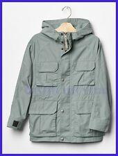 NEW GAP KIDS Boys Field 100% Cotton Long Sleeve Jacket Mineral Gray Size L, XL
