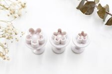 3pc Plum Blossom Baking / Polymer Clay Tool Mini Flowers Cookie Cutters