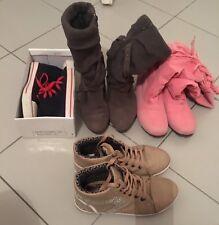 Lot de paires de Chaussures Talons Femme bottes Rose Noir Shoes Boots Basket