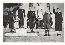 WWII GERMAN- Large 1936 OLYMPIC Sports Photo Image- Winners of Special Ski Jump