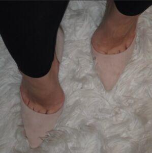 Steve Madden Faux Suede Heels - Pink/Nude