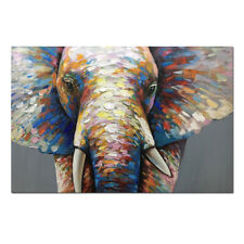 Wall art Animal Elephant Large 3D ART Oil painting on canvas unframed 24x36inch