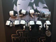 Hot Toys Jedi De Star Wars el último verdugo Trooper manos X 9 Suelto Escala 1/6th