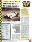Mercedes W 154 V12 Racing Grand Prix Allemagne Germany Car Auto FICHE FRANCE