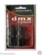Accu Cable DMX Terminator Male 3 & 5 Pin DMX T-PACK