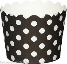 Black & White Spotty & Stripey Pack of 20 x 5.5cm Cup Cake Baking Cups Cases