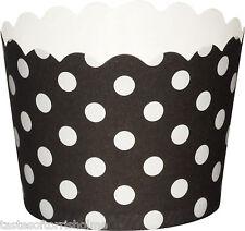 blanco y negro de Topos & rayas paquete 20 x 5.5cm Cupcake Tazas Hornada FUNDAS