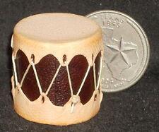 Miniature Southwest Native American Indian Drum Plain 1:12 Prestige Leather