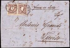 AUSTRIA-OSTERREICH 1858 - 10 kr. n.9 X2 TRIESTE X TREVISO € 250++