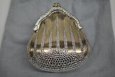 1967 Rare JUDITH LEIBER Chatelaine Minaudiere Gold Swarovski Crystal Handbag VTG